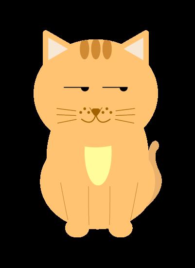 ふーんとする猫のイラスト