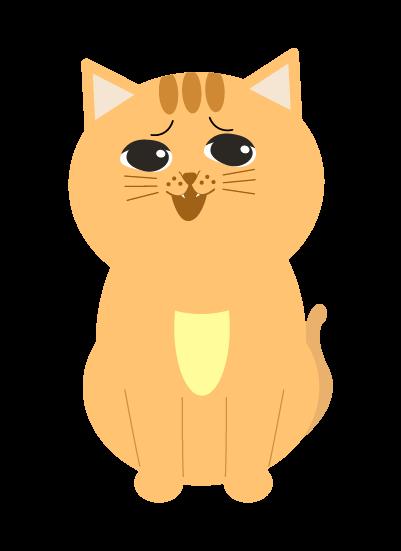 ドヤ顔の猫のイラスト