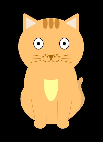驚く猫のイラスト