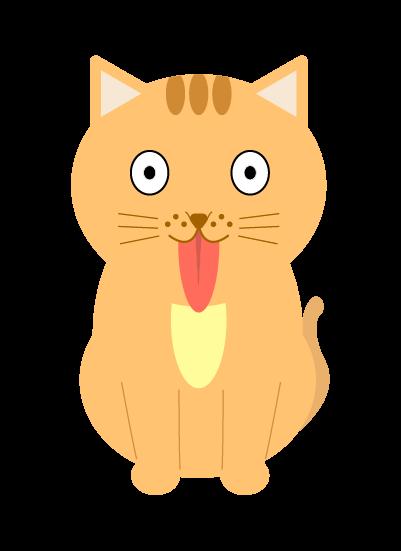 舌を出す猫のイラスト
