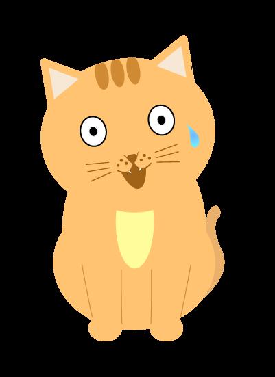 焦る猫のイラスト