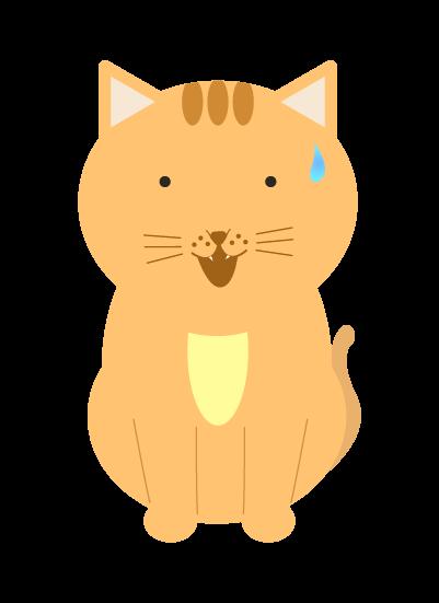 目が点になる猫のイラスト
