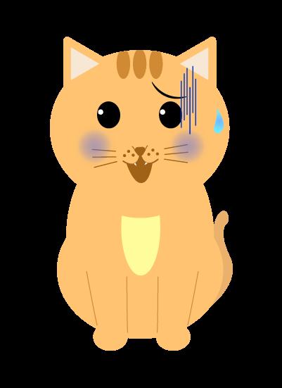 青ざめる猫のイラスト