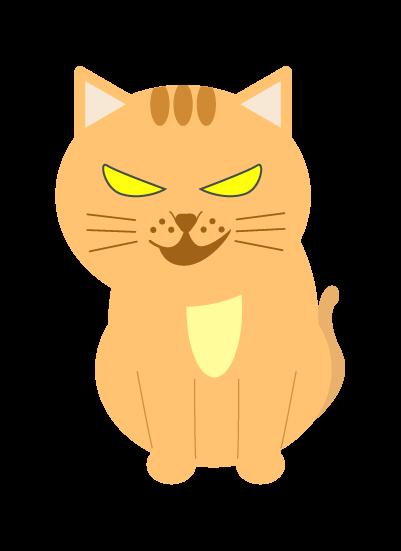 怖い猫のイラスト