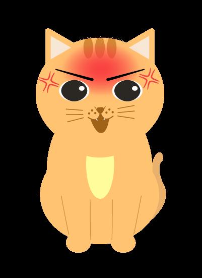 かなり怒る猫のイラスト