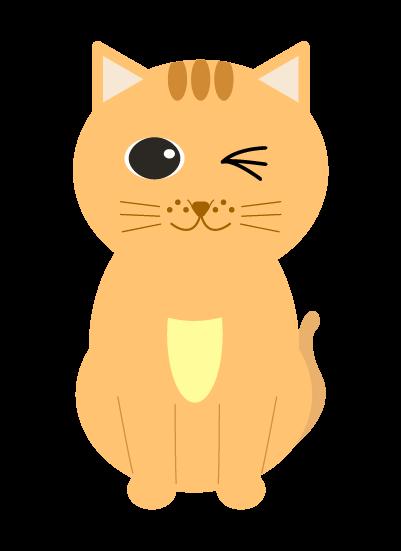 ウインクする猫のイラスト