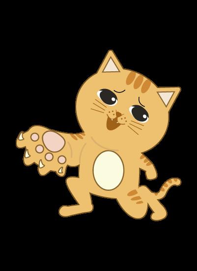 猫の手を差し出す猫のイラスト