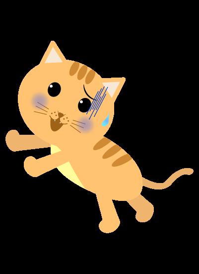 逃げる猫のイラスト