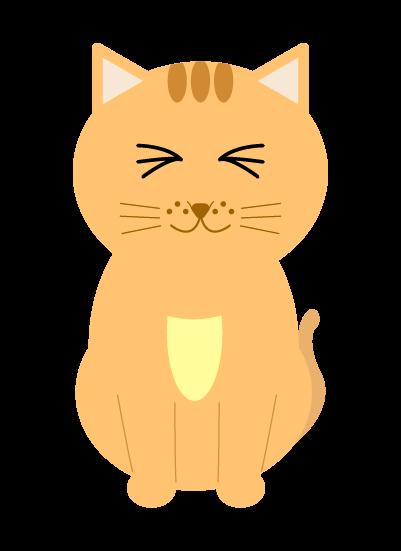 喜ぶ猫のイラスト