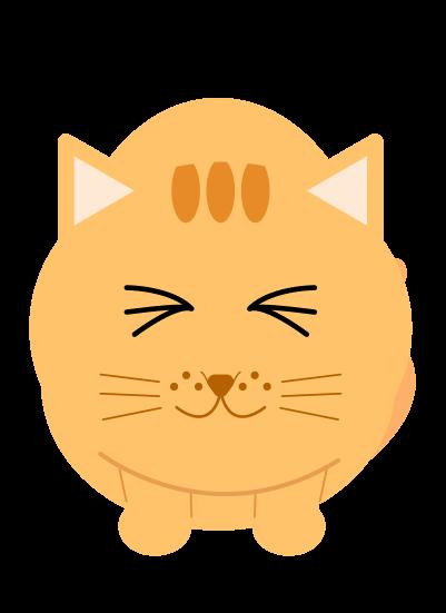 ゴロゴロする猫のイラスト