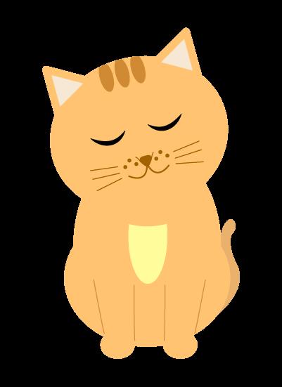 うなずく猫のイラスト