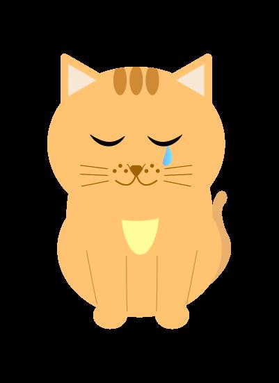 悲しい猫のイラスト