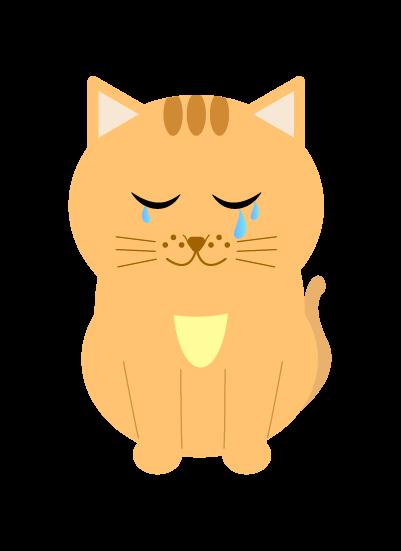 なく猫のイラスト