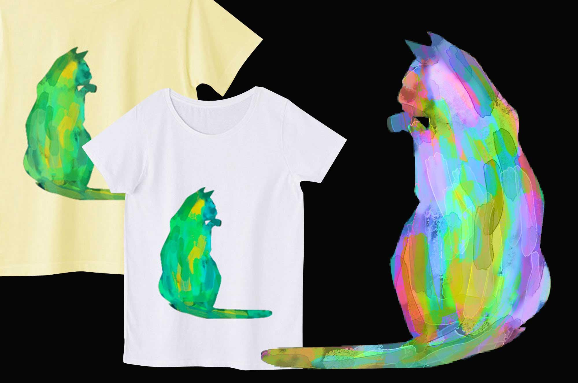 ネコTシャツ - 可愛いアートでおしゃれなデザイングッズ