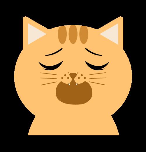 呆れる猫のイラスト