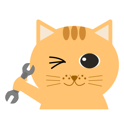 整備士の猫のイラスト