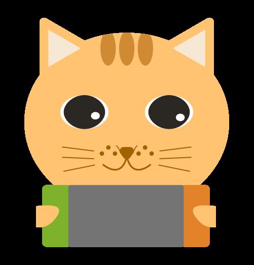 ゲームする猫のイラスト