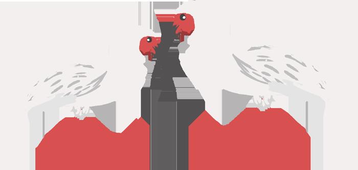 新潟県の県鳥トキのイラスト