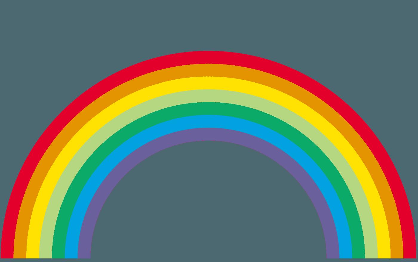 太めの虹虹イラスト