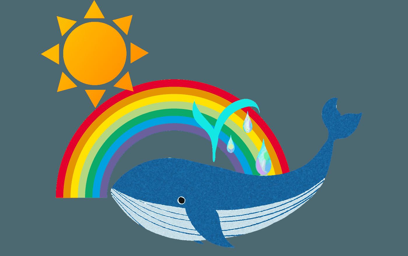 クジラの夢見た虹イラスト