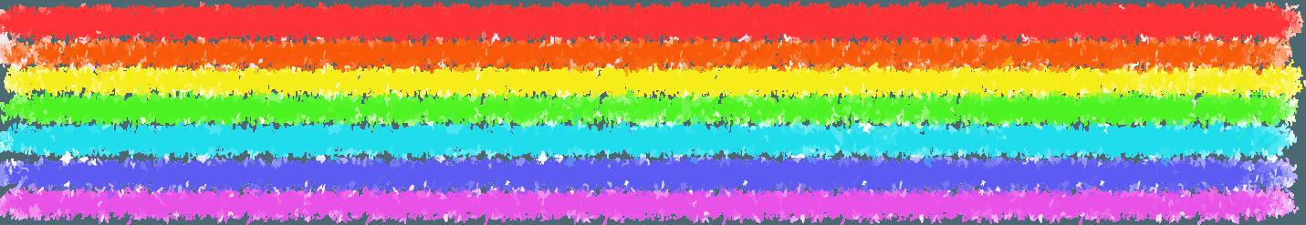 クレヨンタイプの虹のブラシ