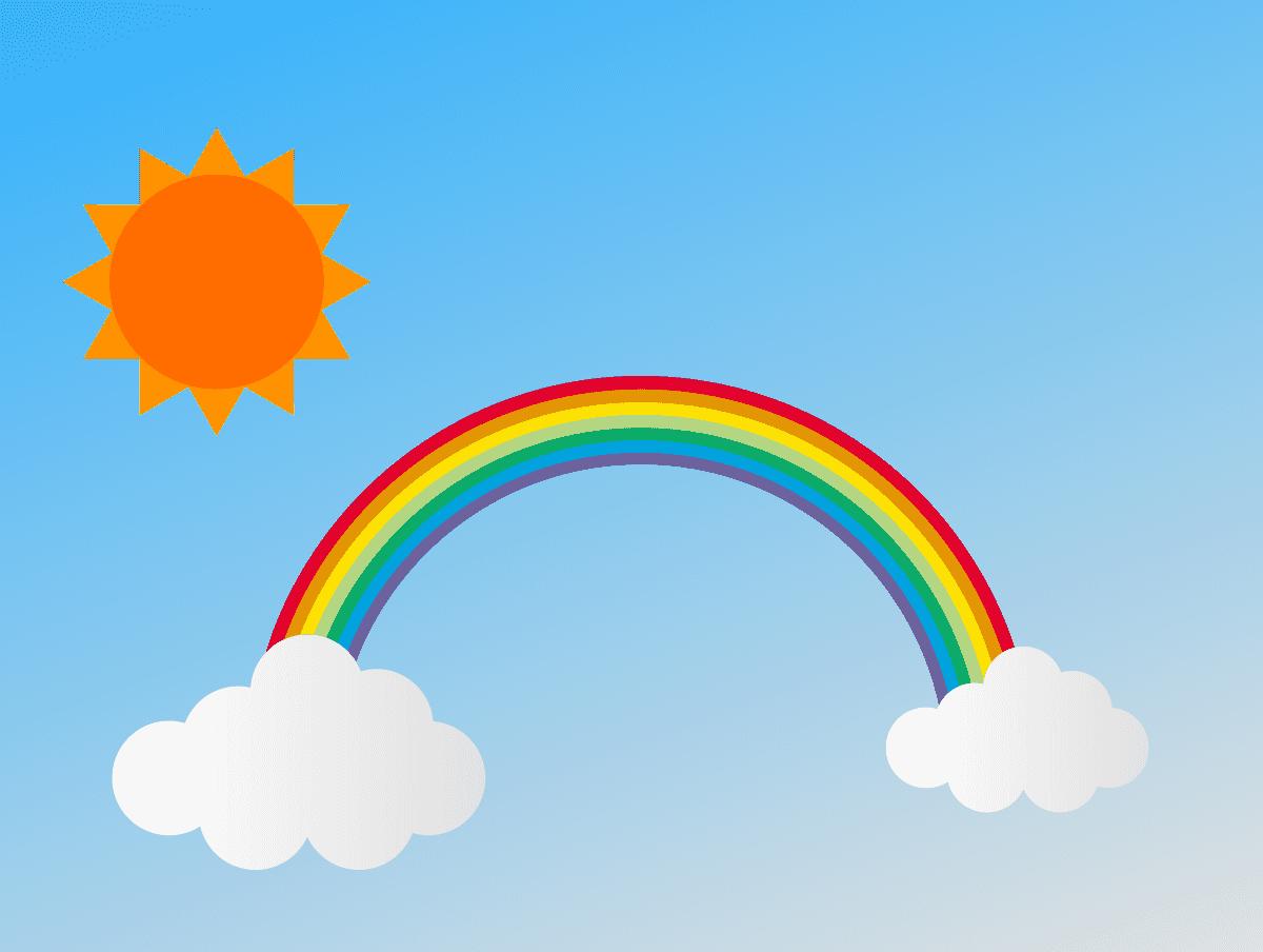青空と星と太陽のイラスト