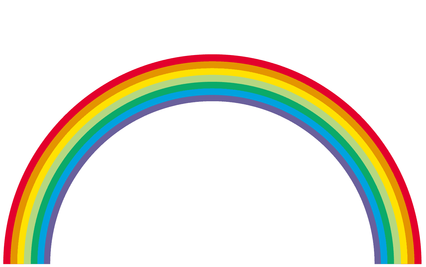 細い虹イラスト
