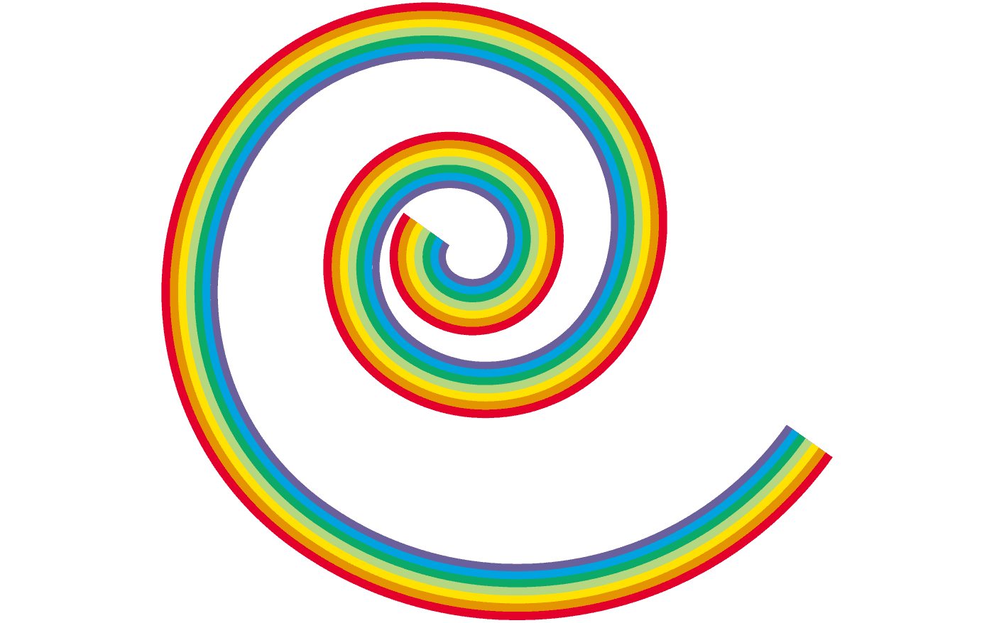 螺旋の虹イラスト