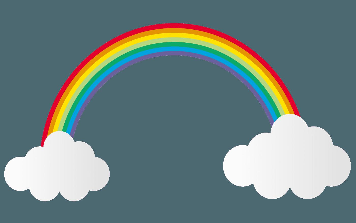 雲と虹イラスト