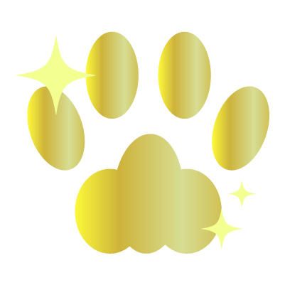 黄金の肉球のイラスト