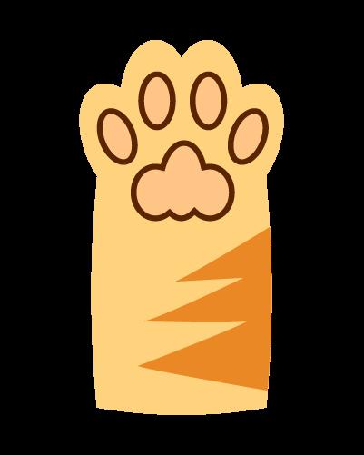 かわいい猫の肉球のイラスト2