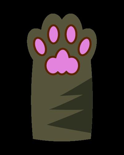キジ猫の肉球のイラスト