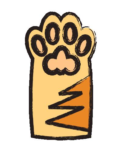 手書きの猫の肉球のイラスト