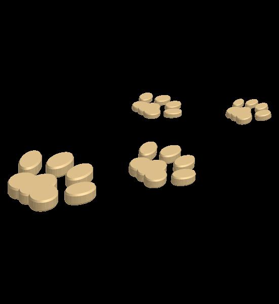 立体的な足跡のイラスト