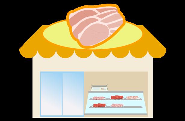 肉屋のイラスト