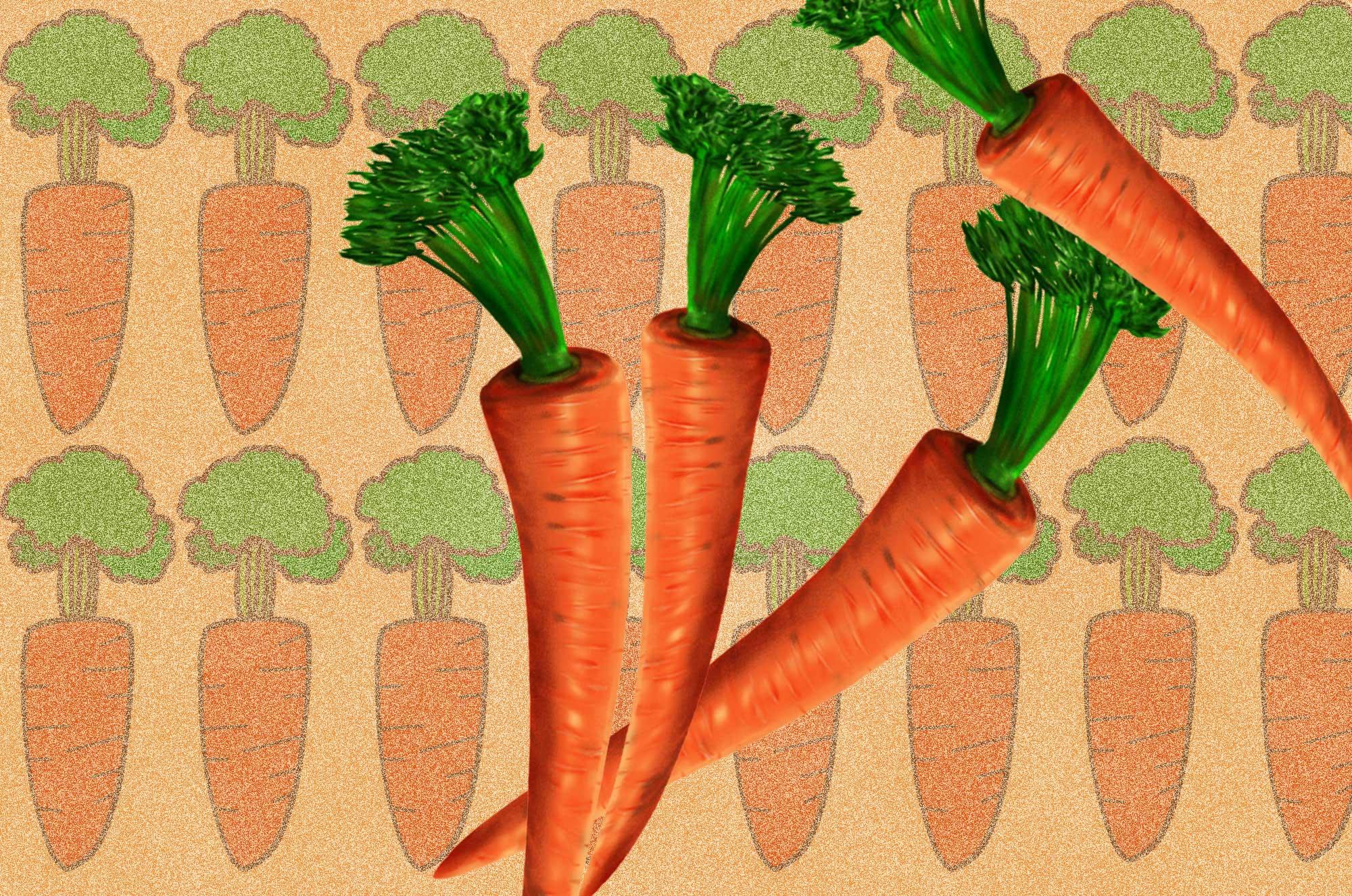人参のイラスト - 可愛い野菜のフリー素材