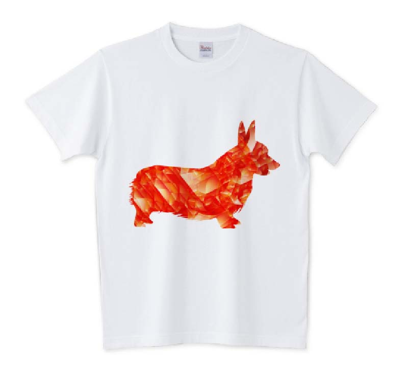 レッドルビーコーギーTシャツ5.6oz