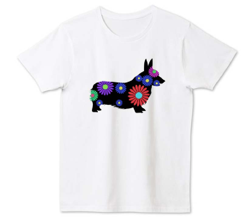 ガーベラコーギーTシャツ