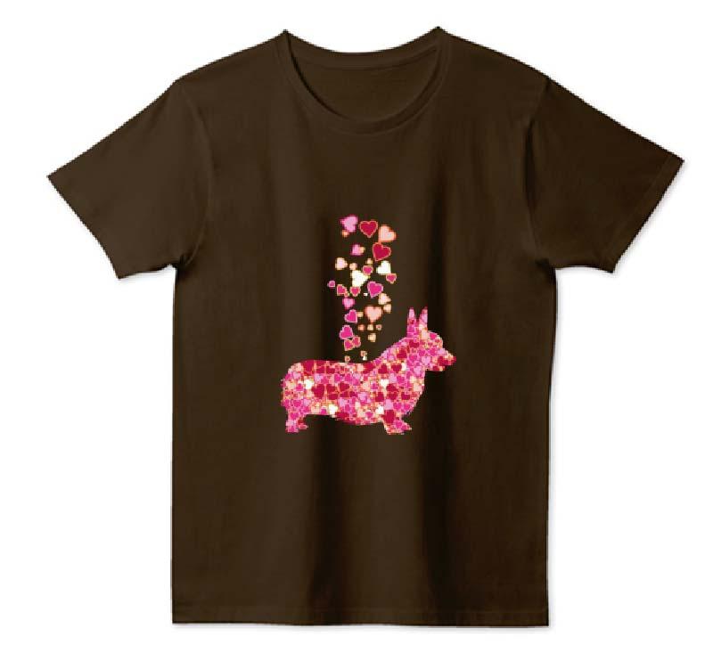 ハートコーギーTシャツ