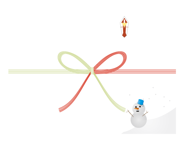 冬の雪だるまののしのイラスト