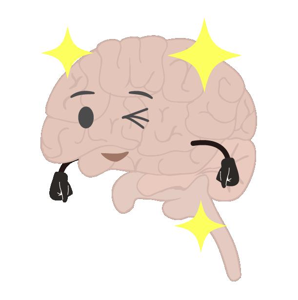 元気な脳のイラスト