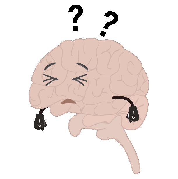 物忘れをする脳のイラスト