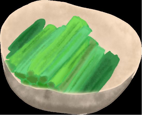 野沢菜漬のイラスト