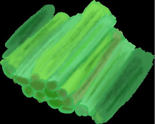 刻んだ野沢菜のイラスト