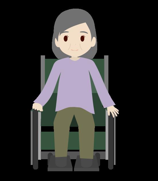 座るおばあちゃんのイラスト2