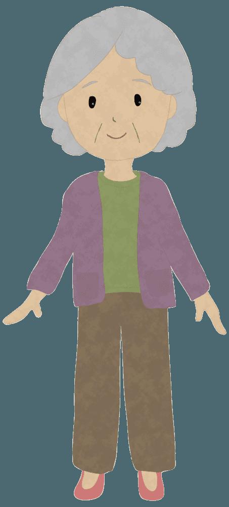 可愛いおばあさんイラスト