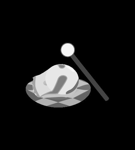 お坊さんのイラスト30(白黒素材)