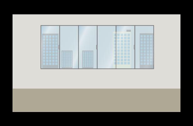 シンプルなオフィスのイラスト