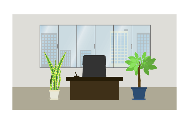 社長室のイラスト