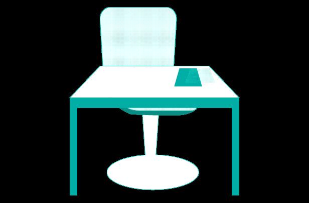 オフィスの机と椅子のイラスト